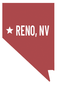 State of Nevada with Reno, NV text